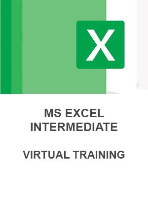 MS Excel Intermediate (Virtual - 2 sessions)